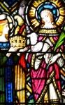 Detail, Window 24, Coronation of Mary as Queen of Heaven, by Mayer of Munich, St. Joseph's Villa Chapel, Richmond, VA. A.D. 1931