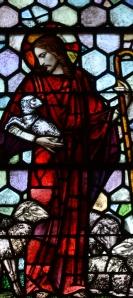 Detail from Window 35, stained glass by Mayer of Munich, St. Joseph's Villa Chapel, Richmond, VA. A.D. 1931