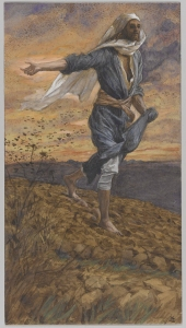 The Sower by James Tissot, part of the Life of Christ series placed in the public domain by the Brooklyn Museum.   The entire series includes over 500 illustrations, including sketches and sketchbooks.
