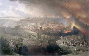 Destruction of Jerusalem, oil on canvas by David Roberts, c. 1850