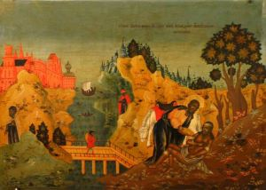 The Good Samaritan icon, Russian Orthodox Church, 18th Century. Public domain.