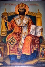 Icon of apostle Apostolos Barnabas in Barnabas monastery near Salamis North Cyprus