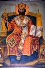 Icon of apostle Apostolos Barnabas in Barnabas monastery near Salamis North Cyprus