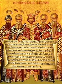 Nicaea_icon-Constantine-Bishops