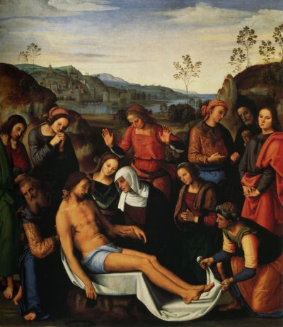 Lamentation over the dead Christ-Perugino-1495