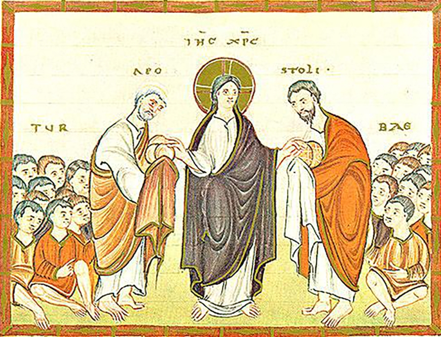 Christ-Feeding Multitude-CodexEgberti-Fol047v