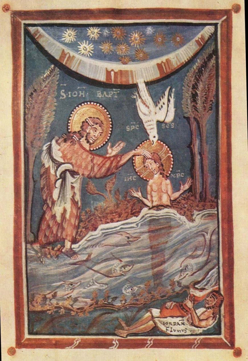 Christ-Baptism-Hitda Codex-Folio3a