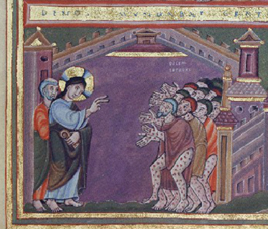 Christ-Healing Ten Lepers-Echternach-Detail-96dpi