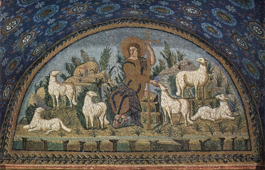 Christ-Good Shepherd-Ravenna-5thC