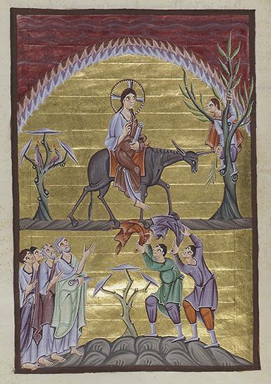 Christ-Entry into Jerusalem-Gospels Otto III-Clm 4453-Image 94-96dpi