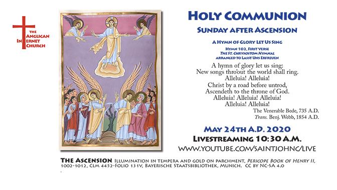 Sunday after Ascension 2020